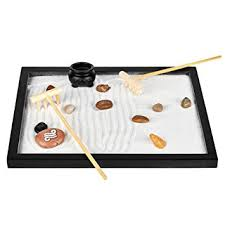 amazon com zen sand garden for desk u0026 office decor tabletop