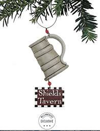 set of 2 colonial williamsburg shields tavern mug tin