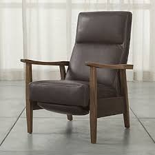 Leather Reclining Chairs Leather Recliner Chairs Crate And Barrel