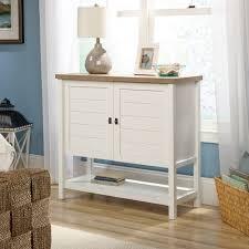 sauder select storage cabinet in white cottage road storage cabinet 422065 sauder