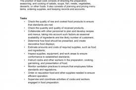 Cook Job Description Resume by Cook Resume Duties Reentrycorps