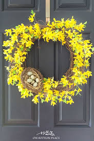 forsythia wreath forsythia wreath a pop of yellow for your door forsythia