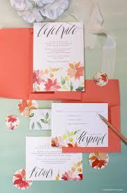 watercolor wedding invitations watercolor wedding invitations lia griffith