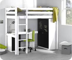lit mezzanine bureau blanc lit superpos chambre idee chambre fille petit espace blanc