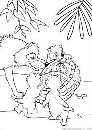 father wolf finds mowgli coloring page free the jungle book