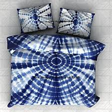 Tie Dye Bed Sets Royal Tie Dye Bedspread Bedcover Bed Sheet Indian Indigo