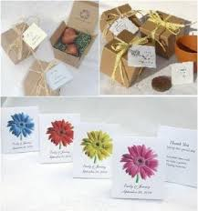 eco friendly wedding favors saying thank you with green celebration advisor wedding and