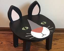 kids animal table and chairs black bear chair stools hand painted wooden animal