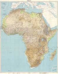 Physical Africa Map by Africa Physical Map 1960