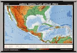 Map Of Middle America by Central America The Antilles Physical David Rumsey