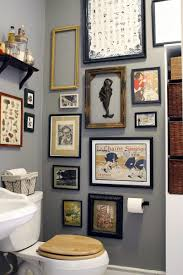 make your small space your happy place gallery wall powder room