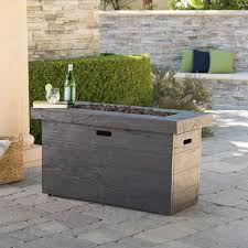 rectangle propane fire pit table custer outdoor rectangular propane fire pit table with lava rocks by