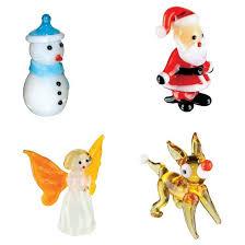 looking glass 4 pk series reindeer santa snowman
