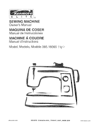 kenmore sewing machine 385 19365 user guide manualsonline com