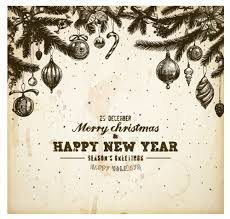 vintage hand drawn new year and christmas ornaments vector set 02