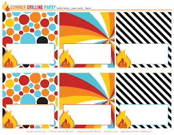 thanksgiving recipe card template free printables summer grilling party or bbq party hostess