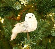 burlap bird ornaments pottery barn
