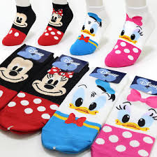 4 pairs lovely disney character socks womens mickey mouse