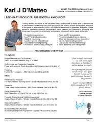 fashion resume sample resume production assistant resume example of the film resume presenter resume examples entertainment resume template