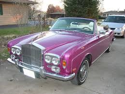 purple rolls royce rolls royce corniche convertible