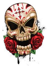 sugar skull roses skulls temporary tatt me temporary
