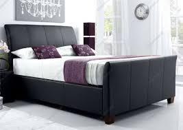 kaydian allendale leather ottoman storage bed black kaydian