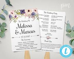 wedding fan program template free wedding program templates wedding program ideas