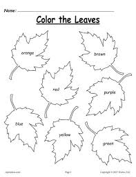 free fall leaf color words worksheet coloring worksheets fall