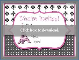 Eiffel Tower Invitations Paris Themed Party Invitations
