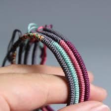 bracelet string images Tibetan buddhist handmade providential knots string bracelets 5 jpg