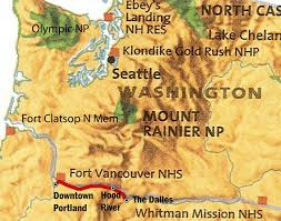 Map Of Downtown Portland by Bucky And His Bike The Dalles To Portland Oregon Along The