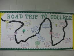 senior trips for high school graduates it is a college preparation bulletin board it describes the paths