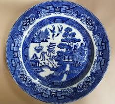 willow pattern jam pot sold v913n victorian 1890s doulton burslem blue white willow