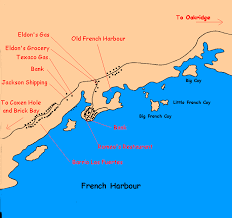 map of roatan honduras harbour restaurants on roatan island honduras