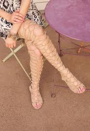 tatiana thigh high gladiator sandals from shop priceless