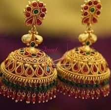 gold jhumka earrings design gold jhumka design page 11