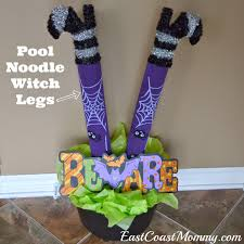 Dollar Store Halloween Craft Ideas by Pool Noodle Witch Legs Witch Legs Holiday Fun And Party Planning