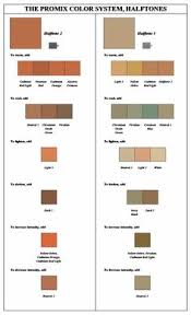 color chart for painting skin tonesi have these very helpful if