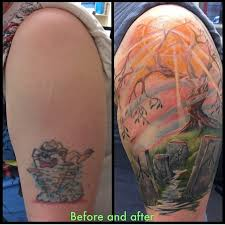 koi tattoo glasgow amazing taz cover up by gillian coveruptattoos colourtattoos