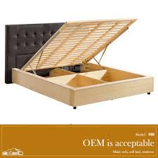 high quality hydraulic lift up storage bed double bed with storage