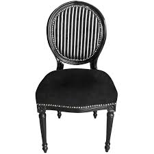 chaise noir et blanc grand fauteuil de style baroque é noir blanc et bois noir