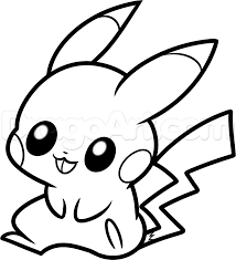 drawn pikachu baby animal pencil and in color drawn pikachu baby