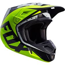 monster motocross helmets fox racing 2017 mx new v2 nirv grey flo yellow dirt bike