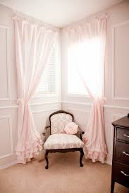 Pink And Grey Nursery Curtains Diy Nursery In Pink Grey The Ruffled Curtains And White
