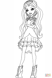 ever after high raven queen coloring page free printable