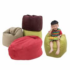 pamica quincy small kid s bean bag chair red green mocha dark