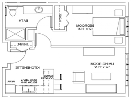 One Bedroom Apartment Floor Plans by Home Design 81 Astounding Efficiency Apartment Floor Planss