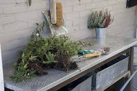 Gardening Table How To Turn A Garden Table Into A Potting Bench Hometalk