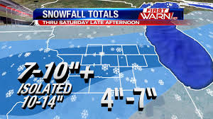 Snowfall Totals Map First Warn Weather Team Winter Storm Update Friday Evening