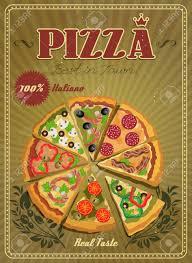 affiche cuisine vintage chambre affiche cuisine vintage affiche vectorielle avec pizza et
